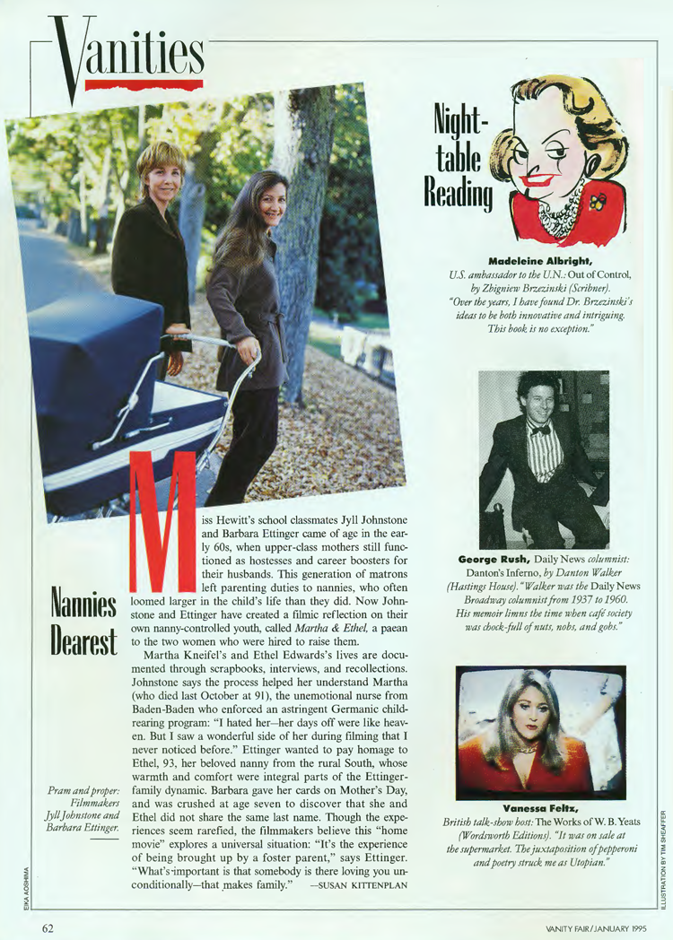 Vanity Fair feature on Martha and Ethel